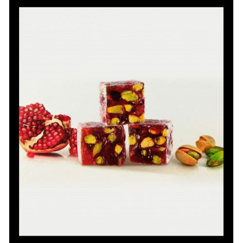 Turkish Delights With Pomegranate Flavored -Pistachio 250GR
